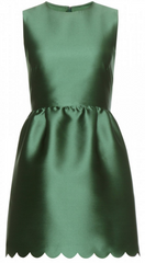 RED VALENTINO - Emerald Satin Mini Dress - Designer Dress Hire