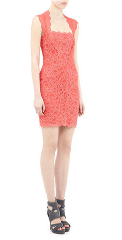 NICOLE MILLER - Eva Dress Watermelon - Designer Dress hire