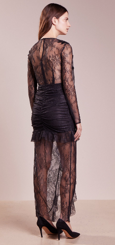 FOR LOVE & LEMONS - Daisy Black Lace Gown - Designer Dress hire