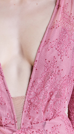 FOR LOVE & LEMONS - Daisy Pink Lace Gown - Designer Dress hire