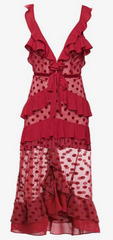 FOR LOVE & LEMONS - Dotty Red Cocktail Dress - Rent Designer Dresses at Girl Meets Dress