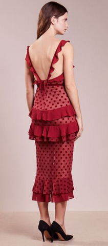 FOR LOVE & LEMONS - Dotty Red Cocktail Dress - Designer Dress hire