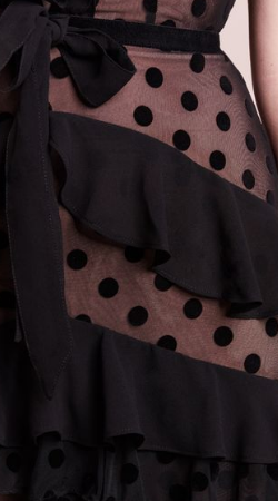 FOR LOVE & LEMONS - Dotty Black Cocktail Dress - Designer Dress hire