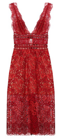 FOR LOVE & LEMONS - Rouge Lace Cocktail Dress - Designer Dress hire
