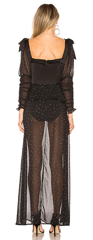 FOR LOVE & LEMONS - Lucky Dice Maxi Dress - Designer Dress hire