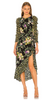 Self Portrait - Floral Satin Jacquard Dress - Designer Dress hire