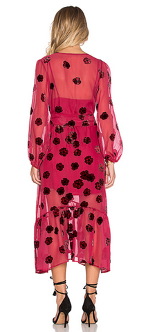 FOR LOVE & LEMONS - Heather Scarf Dress Burgundy - Designer Dress hire