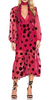 TWISTED WUNDER - Printed Mid-Maxi Abstract Dress - Designer Dress hire