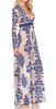 FOR LOVE & LEMONS - Temecula Maxi Dress Navy - Designer Dress hire