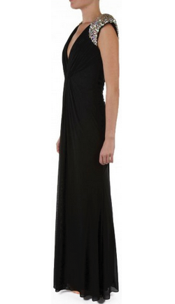 FOREVER UNIQUE - Lowri Maxi Dress Black - Designer Dress hire