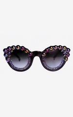 FREDA BANANA - Tara Black Sunglasses - Designer Dress Hire