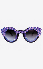 FREDA BANANA - Tara Blue Sunglasses - Designer Dress Hire