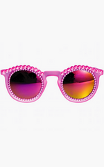 FREDA BANANA - Fire Pink Sunglasses - Designer Dress Hire