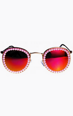 FREDA BANANA - Vic Fire Pink Sunglasses - Designer Dress Hire