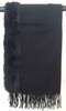 GIRLMEETSDRESS - Fur Trim Pashmina Black - Designer Dress hire