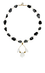 GEMMA REDUX - Black Tourmaline Crystal Necklace - Designer Dress Hire