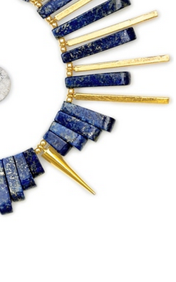 GEMMA REDUX - Lapis and Gold Bracelet - Designer Dress hire