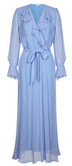 GHOST - Su Dress Blue - Rent Designer Dresses at Girl Meets Dress