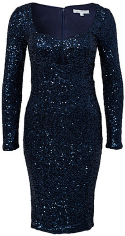 4a4553df GLAMOROUS - Long Sleeve Sequin Dress Navy hire at Girl Meets Dress ...