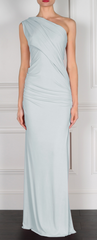 GORGEOUS COUTURE - The Bailey Maxi Ice Grey - Designer Dress Hire