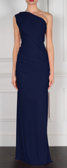 GORGEOUS COUTURE - The Bailey Maxi Midnight Blue - Designer Dress Hire