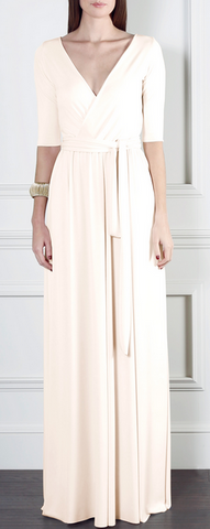 GORGEOUS COUTURE - The Daphne Maxi Blush - Designer Dress hire