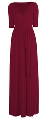 GORGEOUS COUTURE - The Daphne Maxi Oxblood - Rent Designer Dresses at Girl Meets Dress