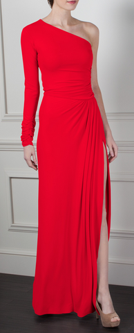 GORGEOUS COUTURE - The Gilly Maxi Red - Designer Dress hire