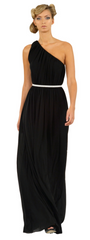 GORGEOUS COUTURE - The Liberty Maxi Black - Designer Dress Hire