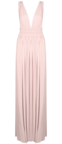 GORGEOUS COUTURE - The Melina Dress Blush - Designer Dress hire