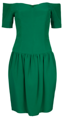NICOLE MILLER - Green Cocktail Dress - Designer Dress Hire