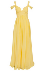 FOREVER UNIQUE - Greta Lemon Gown - Designer Dress Hire
