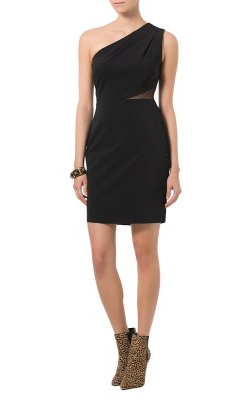 HALSTON HERITAGE - Black Cocktail Dress - Designer Dress hire