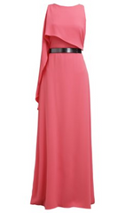 HALSTON HERITAGE - Strawberry Aria Gown - Designer Dress Hire