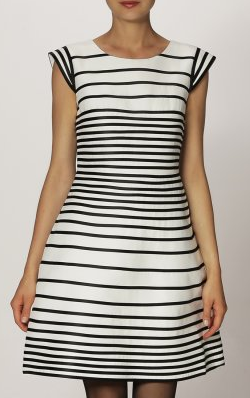 HALSTON HERITAGE - Stripe Party Dress - Designer Dress hire