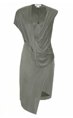 HELMUT LANG - Shale Draped Dress - Designer Dress Hire
