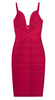 GORGEOUS COUTURE - The Lucianna Midi Dress Oxblood - Designer Dress hire
