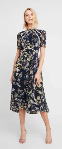 HOPE AND IVY - Cocktail Floral Dress - Designer Dress hire