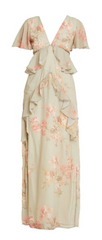 HOPE AND IVY - Plunge Maxi Dress - Designer Dress Hire