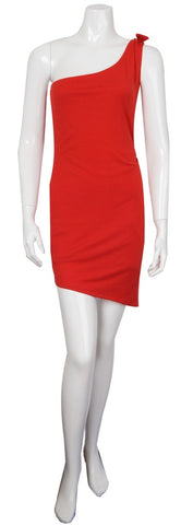 HOUSE OF RENA - Red Dress with Bow - Designer Dress hire