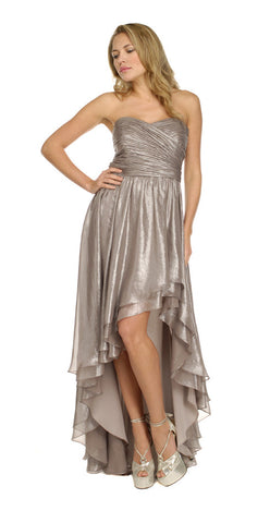 ARIELLA - Ivy Silver Gown - Designer Dress hire