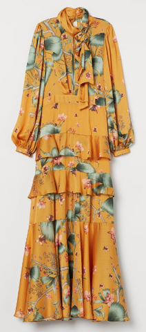 Johanna Ortiz x H&M - Yellow Scarf Collar Dress - Designer Dress hire
