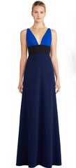 JILL JILL STUART - Heather Blue Blocked Gown - Designer Dress Hire