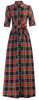 JOLIE MOI - Checked Maxi Shirt Dress - Designer Dress hire