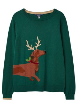 JOULES - Dachshund Crew Neck Jumper - Designer Dress hire