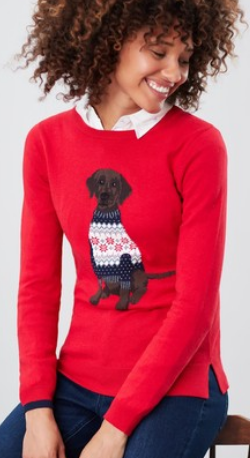 JOULES - Red Miranda Jumper - Designer Dress hire