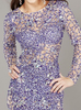 JOVANI - Blue Sequin Dress - Designer Dress hire