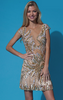 JOVANI - Nude Wow Dress - Designer Dress hire