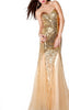 JOVANI - Ivory Illusion Dress - Designer Dress hire