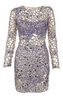 ALICE AND OLIVIA - Becker Gathered Dress - Designer Dress hire